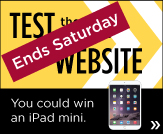 Ends Saturday - Test the Library's new website. You could win an iPad mini.