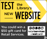 Test the Library's new website